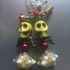 Jewelry - Day of the Dead / skull earrings